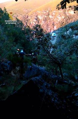 Rescate de un montañero accidentado en el Pico Cuiña-Candín