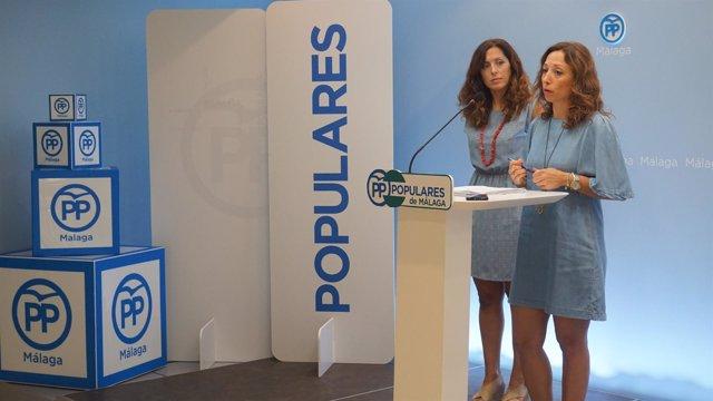 Patricia Navarro y Marina Bravo, en Málaga