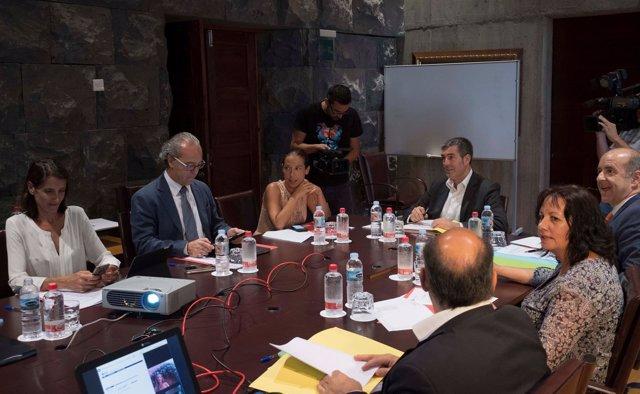 Foto de este consejo de Gobierno, presidido por Fernando Clavijo