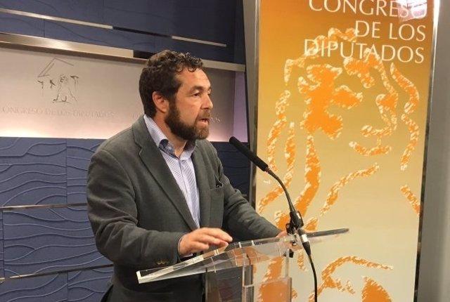 Miguel Gutiérrez, secretario general de Ciudadanos en el Congreso
