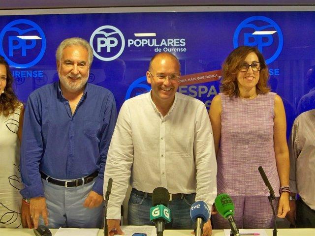 Rueda del PP en OUrense.