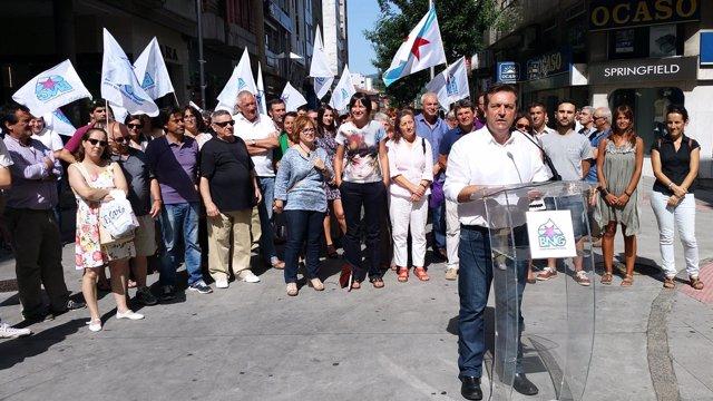 Acto del BNG en Pontevedra.