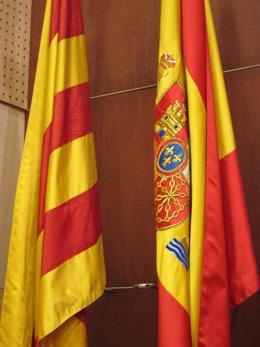 Bandera Catalana Y Española, Senyera, Independencia, Pacto Fiscal