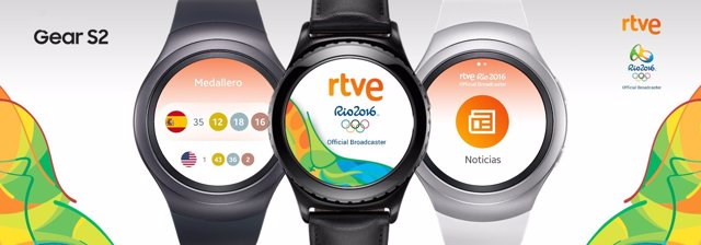 Reloj inteligente on smartwatch con la app de RTVE