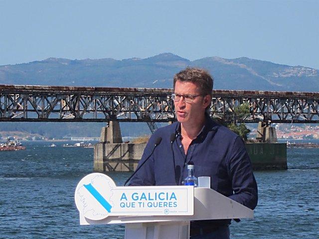 El presidente de la Xunta y del PPdeG, Alberto Núñez Feijóo