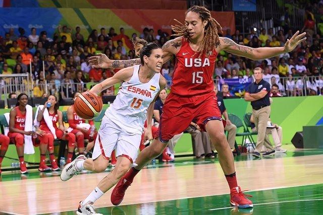 Anna Cruz pelea contra una jugadora de Estados Unidos en Río 2016