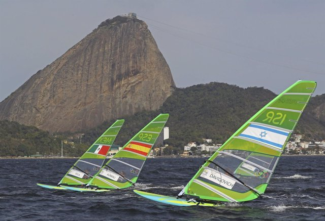 Marina Alabau en la jornada de RS:X en Río 2016