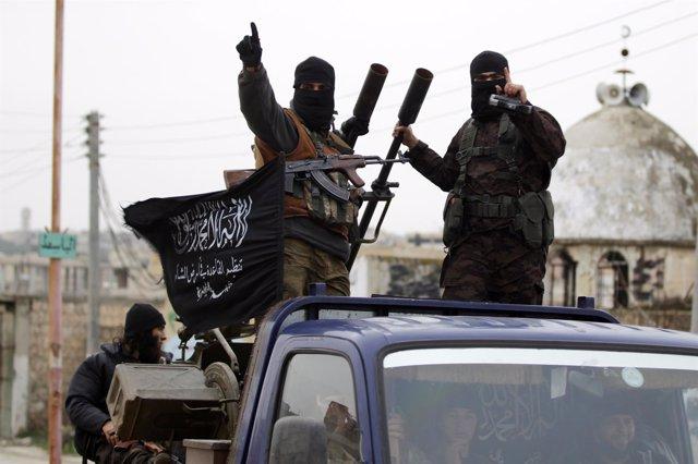 Milicianos del Frente al Nusra en Idlib
