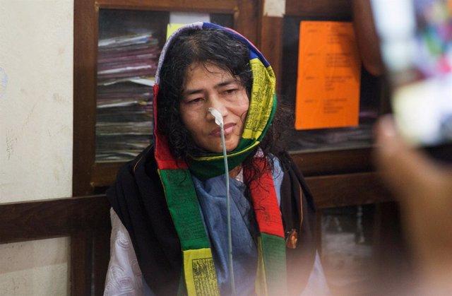 La activista india Irom Sharmila