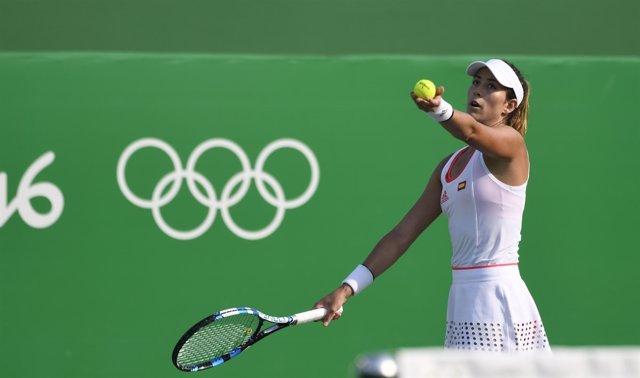 Garbiñe Muguruza en los Juegos Olímpicos de Río