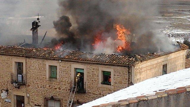 Incendio en la Casa Consistorial de Palazuelos