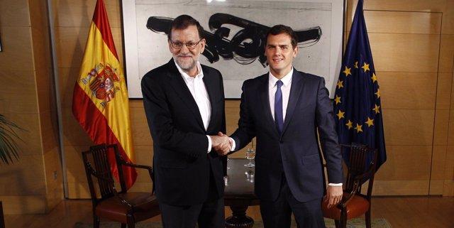 Reunión de Rajoy y Rivera