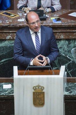 El presidente Pedro Antonio Sánchez en Debate Estado Región en Asamblea