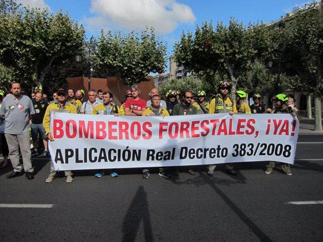 Concentración  del colectivo de extinción de incendios forestales