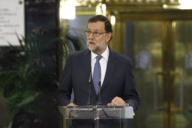Rueda de prensa de Mariano Rajoy tras reunirse con Albert Rivera