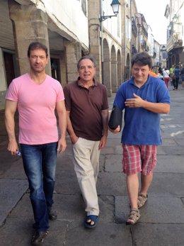 Carlos Armada, Eusebio Ónega y Xosé Zapata, críticos Podemos Galicia