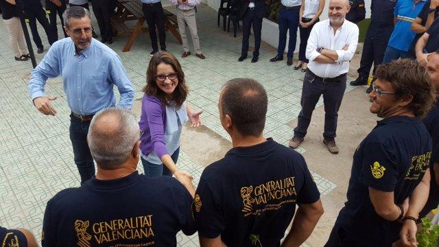Oltra visita instalaciones de la Brigada Helitransporrtada en Castellón