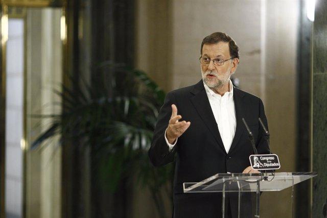 Comparecencia de Rajoy tras su reunión con Rivera