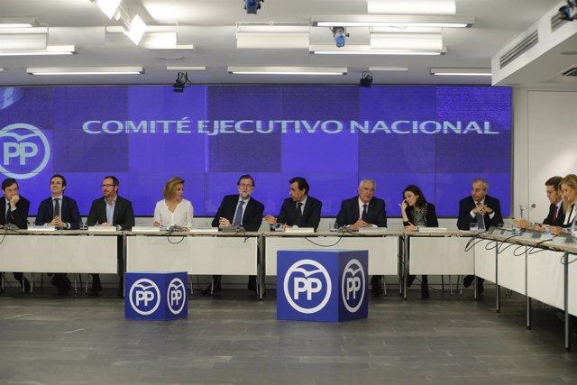 Mariano Rajoy preside el Comité Ejecutivo Nacional del PP