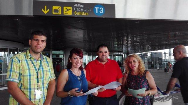 Remedios Ramos, Málaga para la Gente, en el aeropuerto
