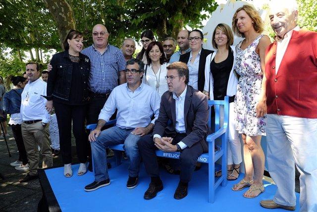 Feijóo na Xunta Directiva do PP de Lugo celebrada en Chantada