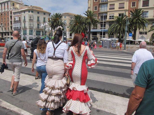 Feria de Málaga, Flamenca, turismo, Turista, Flamenco