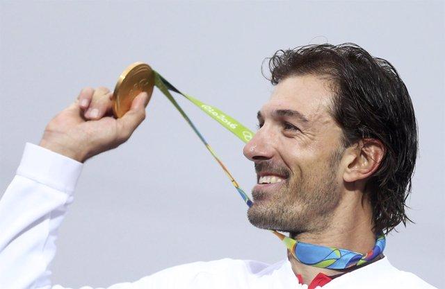 Fabian Cancellara, campeón olímpico en contrarreloj