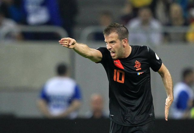 Rafal van der Vaart en el Rumania - Holanda