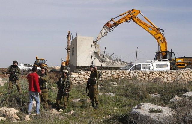 Demolición de una casa palestina en Cisjordania