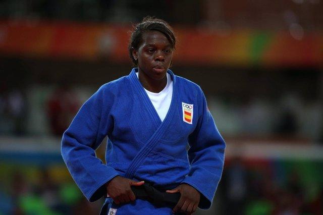 La judoca española María Bernabéu