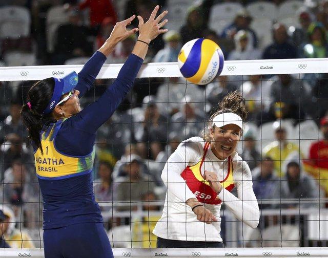 Elsa Baquerizo y Liliana Fernández ganan en el voley playa de los Juegos de Río