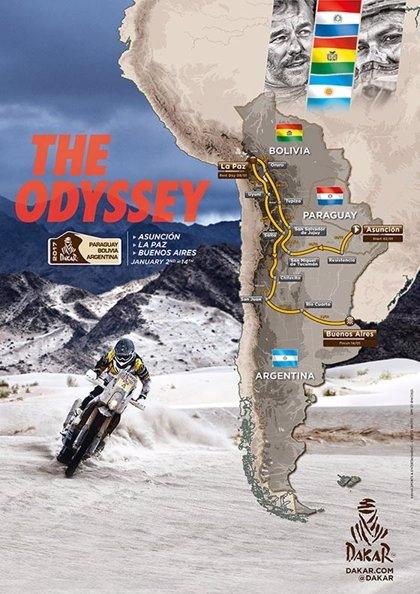 Así será el recorrido del Rally Dakar 2017