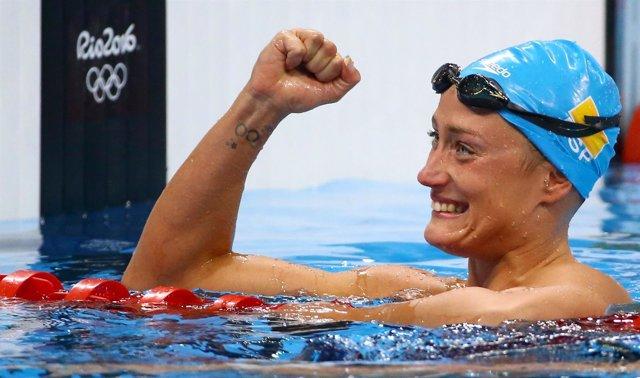 La nadadora española Mireia Belmonte en Río 2016