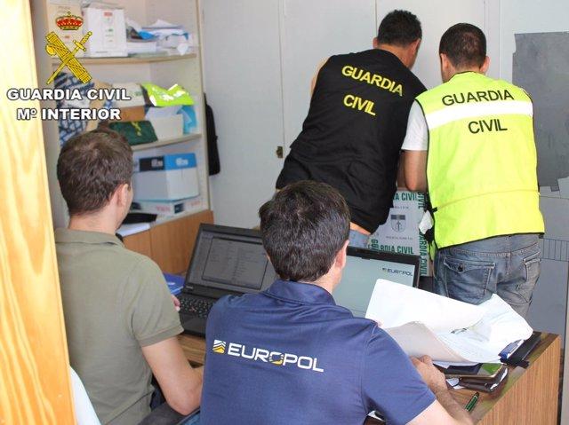 Los agentes de la Benemérita en el desarrollo de la operación