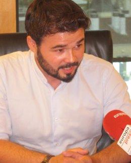Gabriel Rufián, de Esquerra Republicana