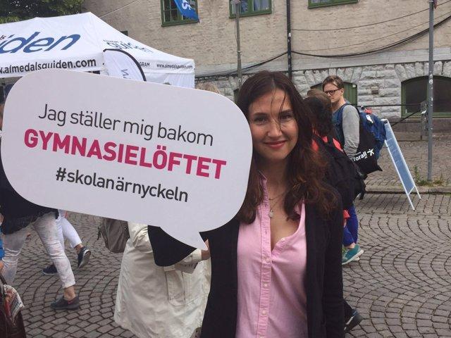 La ministra de Educación Superior de Suecia