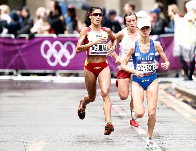 Alessandra Aguilar maratón Juegos Olímpicos Londres
