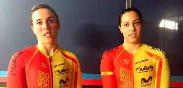 Helena Casas y Tania Calvo, ciclistas de velocidad olímpica