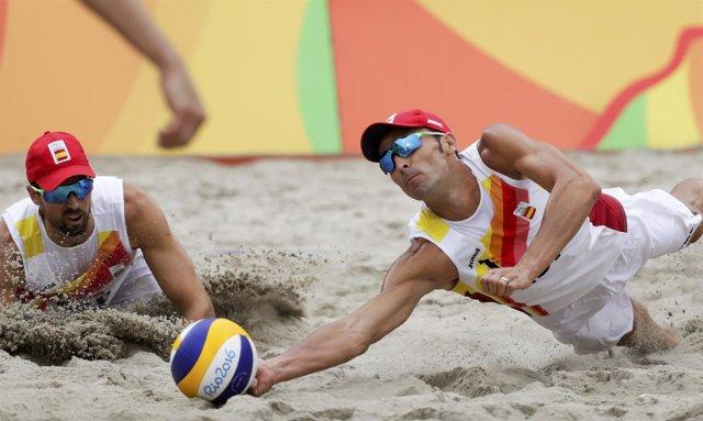 Pablo Herrera Adrián Gavira voley playa Juegos Olímpicos Río