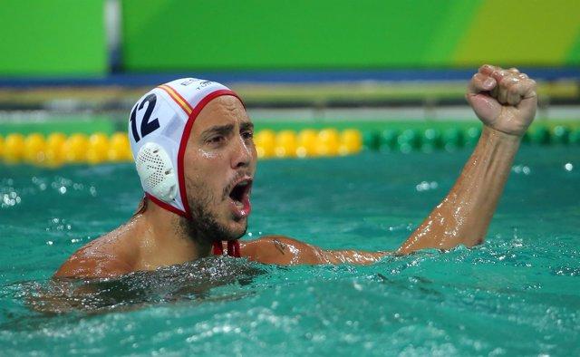 El jugador de waterpolo español Gonzalo Echenique