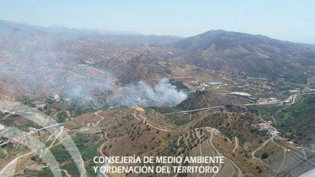 Incendio en La Viñuela