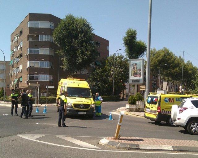 Accidente en Torrejón