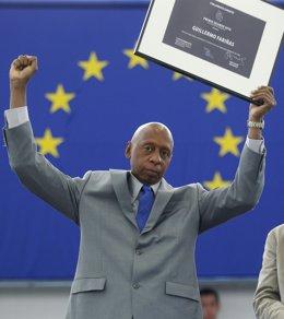 El disidente cubano Guillermo Fariñas recoge  el Premio Sájarov