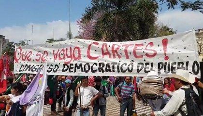 Los campesinos de Paraguay exigen la renuncia del presidente Horacio Cartes