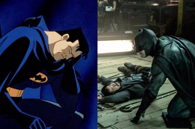 Batman de animacion vs Batman de Ben Affleck
