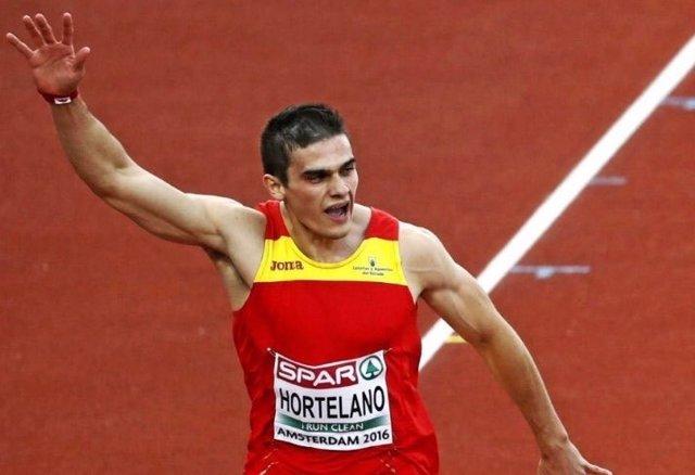 Bruno Hortelano se clasifica para las semifinales de los 200 metros con récord de España