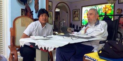 Evo Morales se reúne con Fidel Castro por su cumpleaños