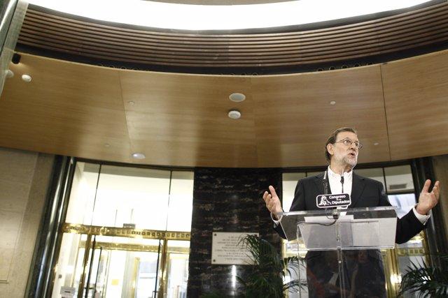 Rueda de prensa de Rajoy tras su reunión con Rivera
