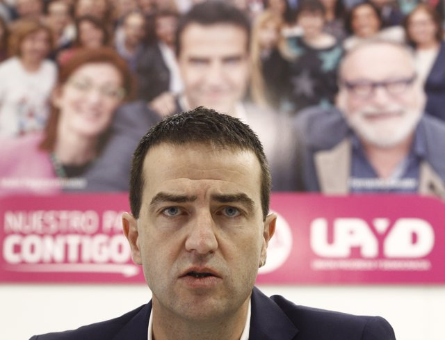 El candidato de UPYD a la Presidencia del Gobierno, Gorka Maneiro