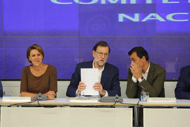 Mariano Rajoy en el Comité Ejecutivo del PP